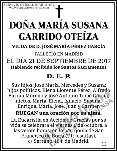 María Susana Garrido Oteíza